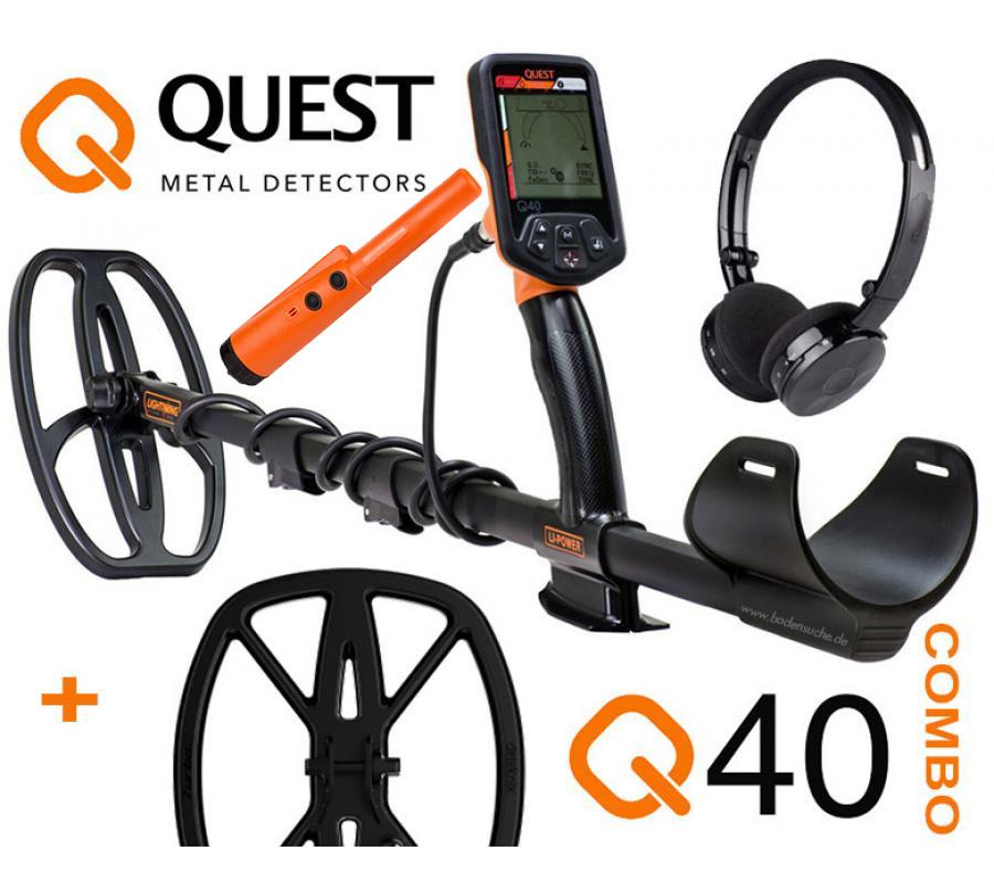 102a4a62d16dd Bodensuche Shop - Deteknix Quest Q40 Metalldetektor Combo Set